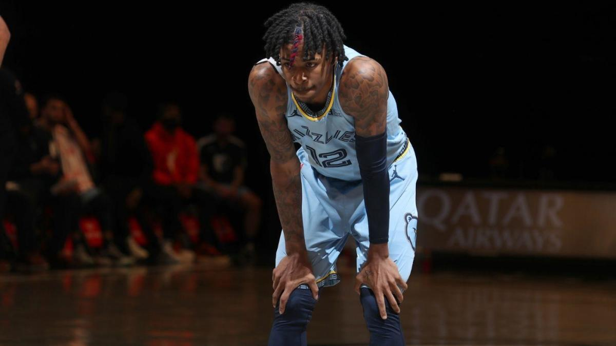 Grizzlies' Ja Morant leaves the game against the Nets in a wheelchair after a left ankle sprain.  To undergo an MRI scan on Tuesday