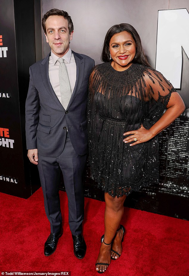 Romantic Action: Mindy and BJ were introduced while working on the series, and they had an on-off relationship while on the series, which was mirrored and mocked by the interdependence relationship between their characters;  They were seen together in May 2019