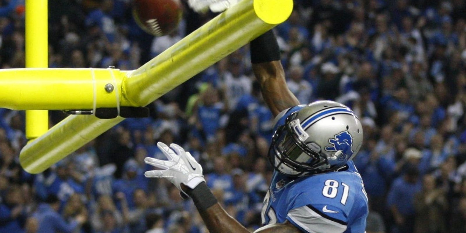 Calvin Johnson of the Detroit Lions reached the final of the Professional Football Hall of Fame