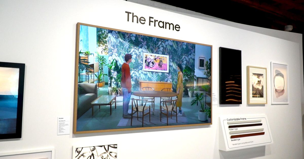 Samsung's lower-end The Frame TV returns to CES 2021, disguised as a mural