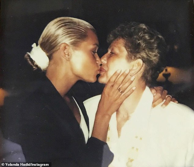 A Sweet Memory: The second photo in her gallery was a beautiful throwback shot of Yolanda and her mom several years ago