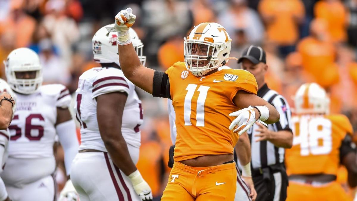 Tennessee LB Henry To'o To'o, RB Eric Gray Inter Vols at Transportation Gate after Jeremy Pruitt launch