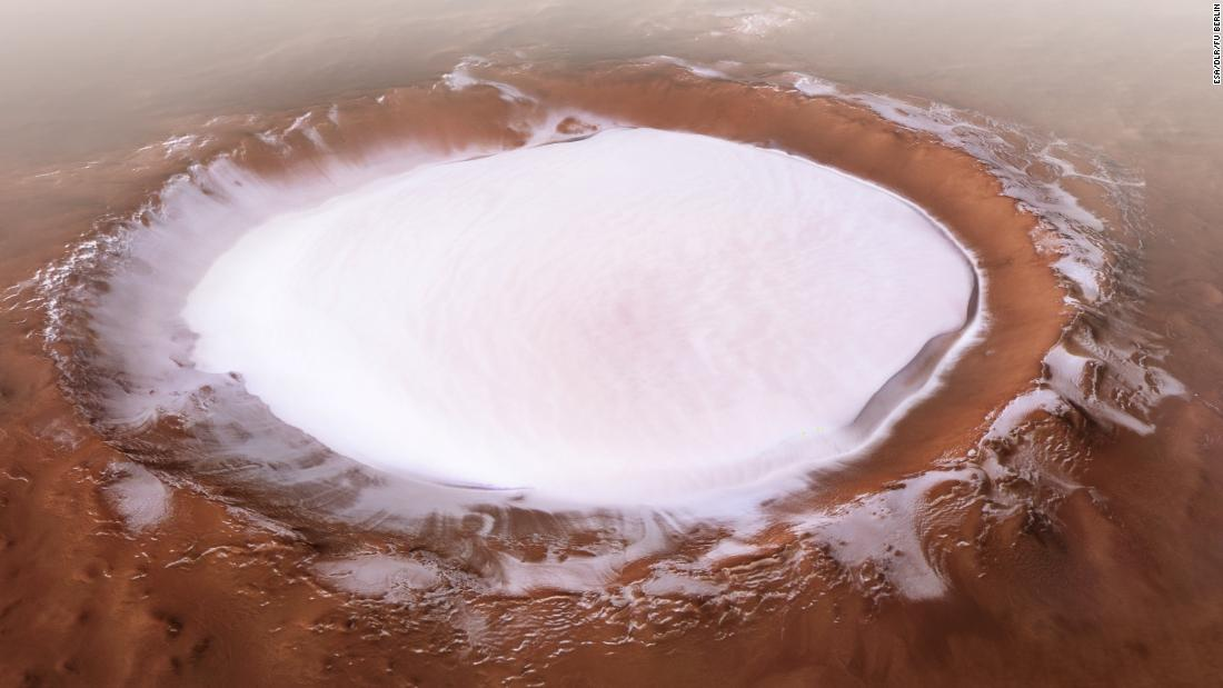Glaciers on Mars reveal the planet's many ice ages
