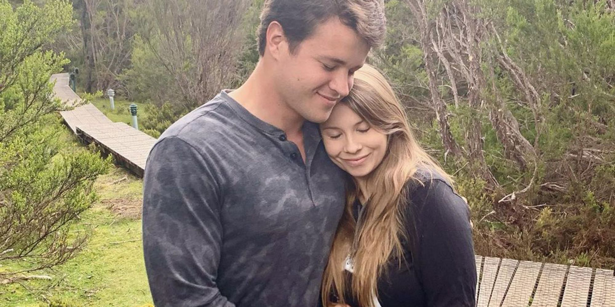 Bindi Irwin shares the precious pic with her husband as she nears her due date