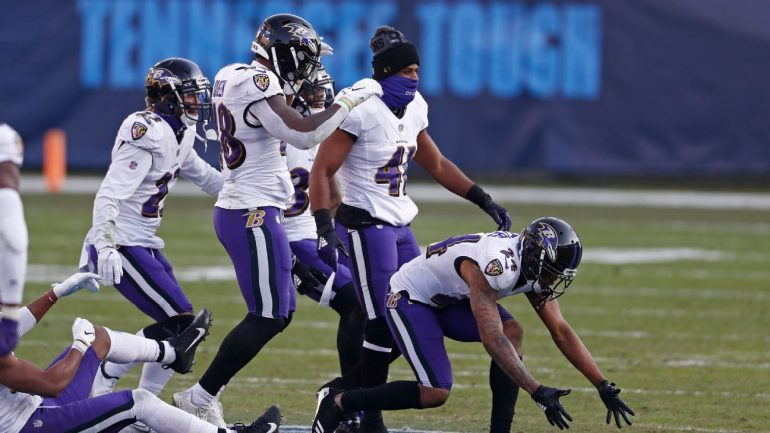 """The Baltimore Ravens celebrate the Tennessee Titans motto about """"team unity"""", not disrespect"""