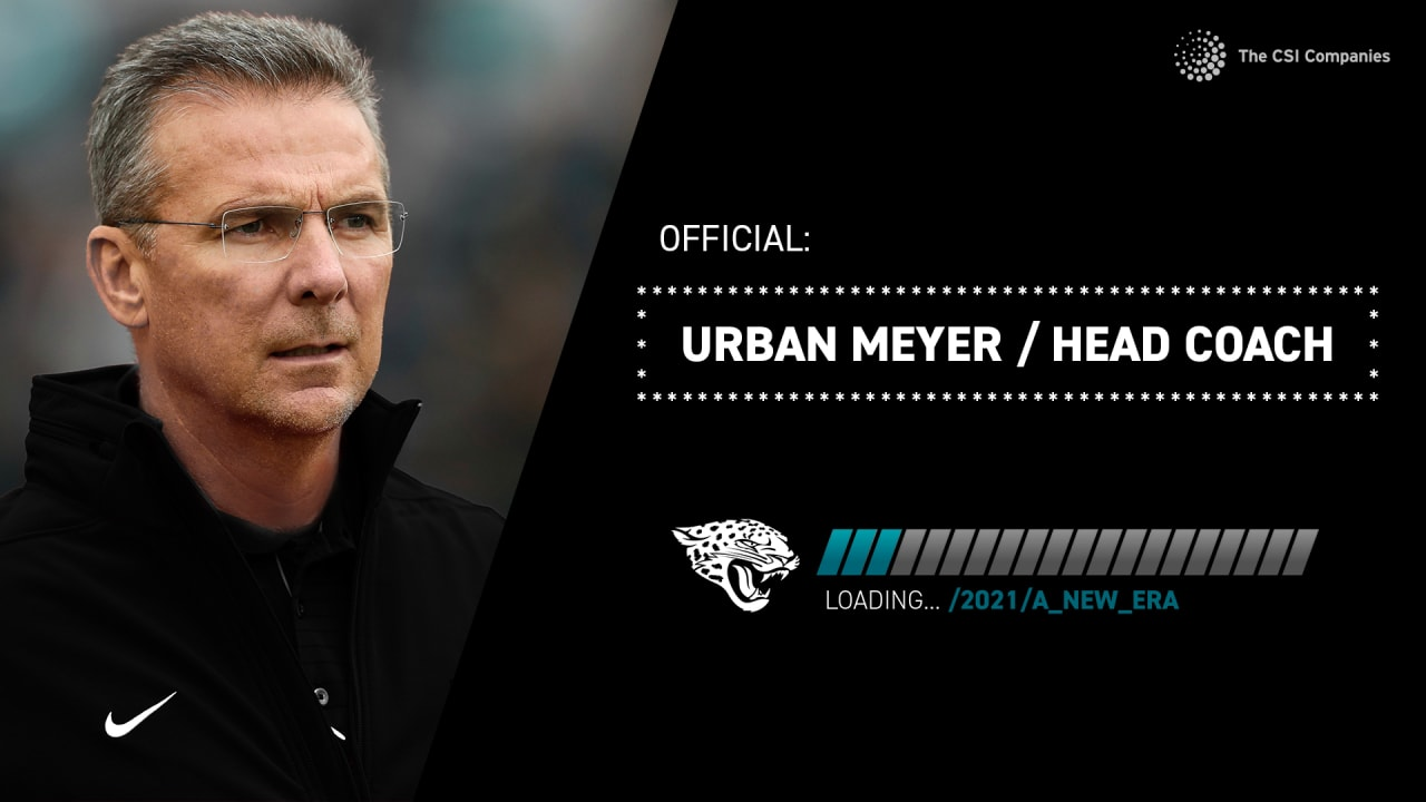 Urban Mayer has been appointed Jaguar's head coach